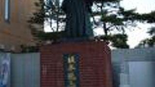 蝦夷地の坂本龍馬像
