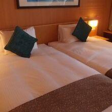 部屋は広くて快適です。