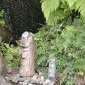 駐車場脇の池にアマビエの石像があり、アマビエ朱印(初穂料500円)もありました