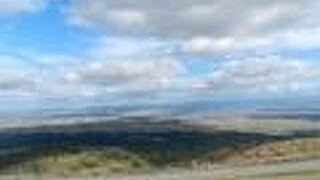 男鹿半島や八郎潟が見渡せる場所
