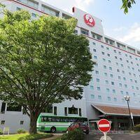 正面には鶴丸がドーン、「ホテル日航成田」です