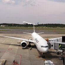 NCA機が離陸