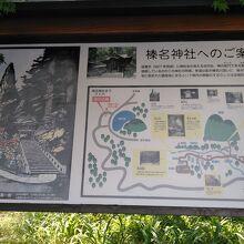 駐車場に榛名神社の案内があります。