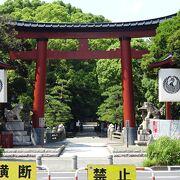 表参道は、鳥居の前で東海道に寸断されていました。