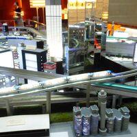 ロビー内のジオラマ模型