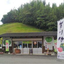 敷地内の岳間茶の店舗