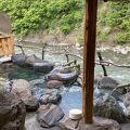 清津峡トンネル入り口にある旅館