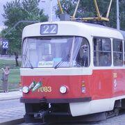 プラハでは地下鉄よりも路面電車の方が便利