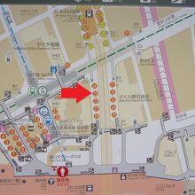 仙台駅バス乗り場。