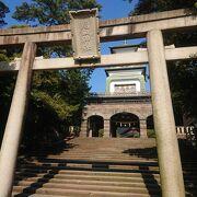 和と洋がマッチした神社でした
