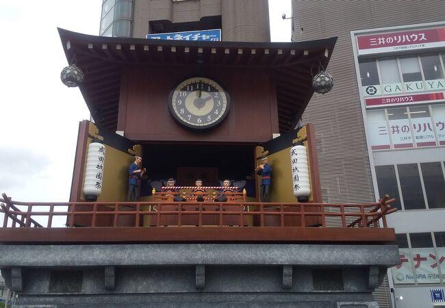 成田駅東口ロータリーに