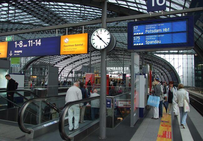 ベルリン中央駅、周囲は発展途上