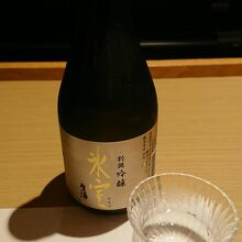 お勧めされた日本酒。確かに美味かった