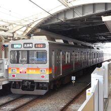 一番大井町寄りの電車が混む