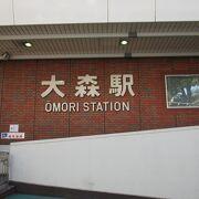 大森駅の品川区側にある大井水神公園には桜並木が続いています。