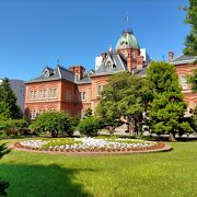 札幌を代表する歴史的建造物のひとつの赤レンガ庁舎