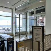 空港3階にある展望デッキ。