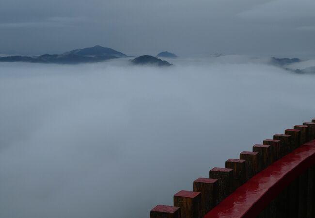 雲海が見られた