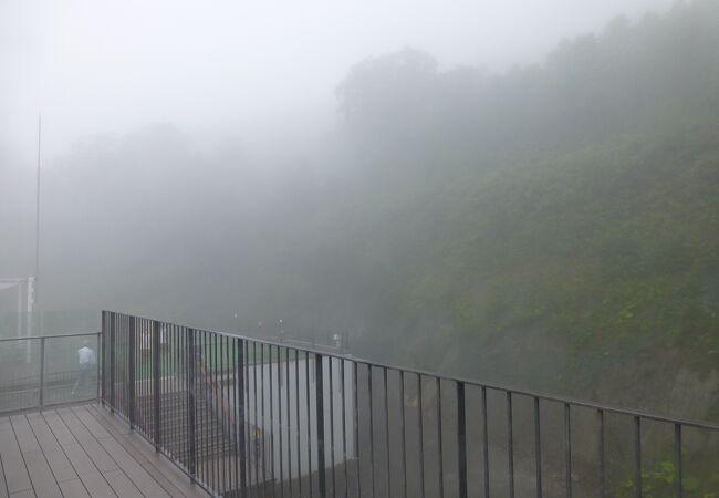麓駅と雲海テラス駅では天気も一変