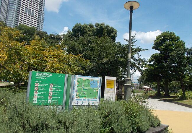 広い開放的な公園です。