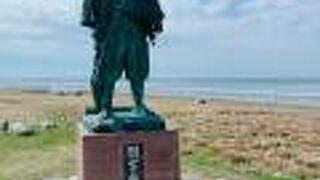 宗谷岬に立っている、凛々しい銅像