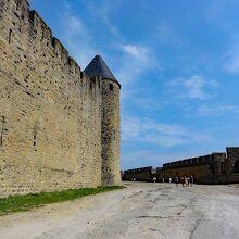 カルカソンヌ城の城壁
