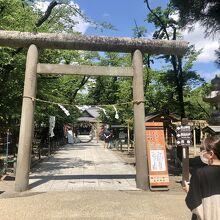 上田城のなかにある神社