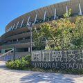 【国立競技場】2021年9月現在バリケードがあって近寄れませんが、やっぱり美しい競技場