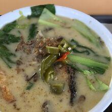 濃厚なスープ。