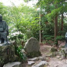 立石寺 芭蕉と曽良の像