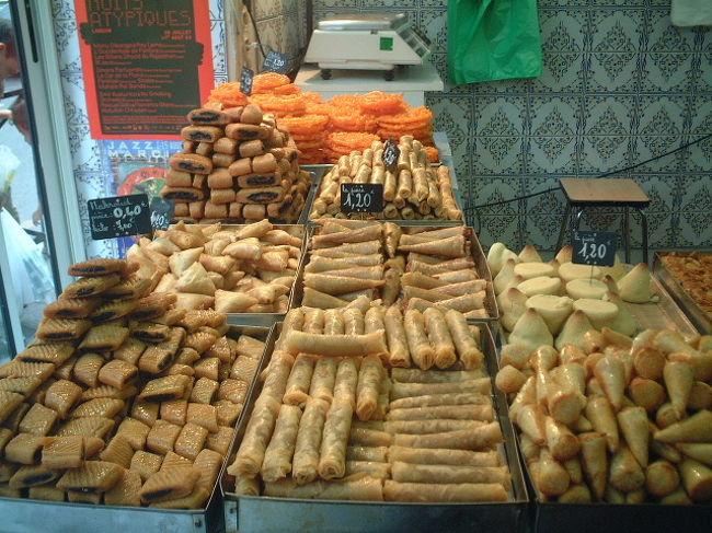 ボルドーにはおいしくて、安く食べられるスペイン、ポルトガル,アラブ料理屋がたくさんあります。<br />今回はアラブ料理とお菓子の紹介です・・・