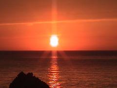 夕日の越前海岸