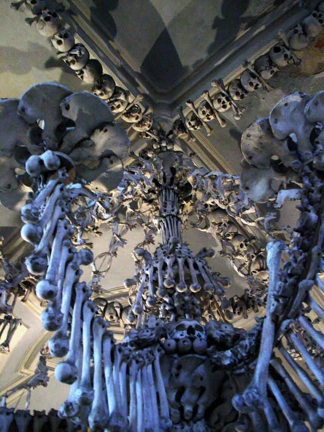 チェコ旅行の際に、プラハから電車で1時間かけて『コストニツェ(墓地教会)』のあるセドレツ(クトナー・ホラ)に行きました。『コストニツェ(墓地教会)』は、チェコのシュルレアリスト、ヤン・シュヴァンクマイエルのドキュメンタリー風の映像作品に使われたことでも知られる教会です。この教会には14世紀に大流行したペストや、15世紀初頭のフス戦争時に亡くなった方々の約4万体もの遺骨が納められています。現在の骨を素材とした装飾の数々(シャンデリアや顕示台、シュヴァルツェベルグ家の楯型の紋章等)は1870年からチェコの木彫士フランテーシェック・リントによって作られたものです。<br />訪問時に写真を多数撮ってきたので、その中から50ピックアップして写真集にしたので、興味がある方はどうぞ。<br />(※近々『コストニツェ』に行く予定がある方は、楽しみが半減するので見ないほうがよいです。)<br /><br />今回は時間がなかったので、滞在時間は3時間弱でしたが、見所の多い歴史都市なので、1泊するくらいのゆとりをもって訪問したい街です。