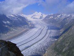 スイスドライブ&ハイキング【2】(アレッチ氷河と峠ドライブ編) 2004年7月