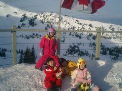 カナダの幼児連れスキーキャンプ