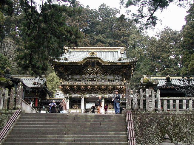 富士山から東京を回って、栃木県にやってきました。<br />1996年の初回来日渡航では、こまの体力と訪問日数の都合上、宇都宮までのドライブがムリだったので、東京までとしました。<br />今回の日本滞在期間が2ヶ月と長かったので、ゆとりを持って回れた為、とうとう来る事が出来ました。<br /><br />爺ぃは今回の訪問で、日光が日本で一番のお気に入りになったと言う事です。