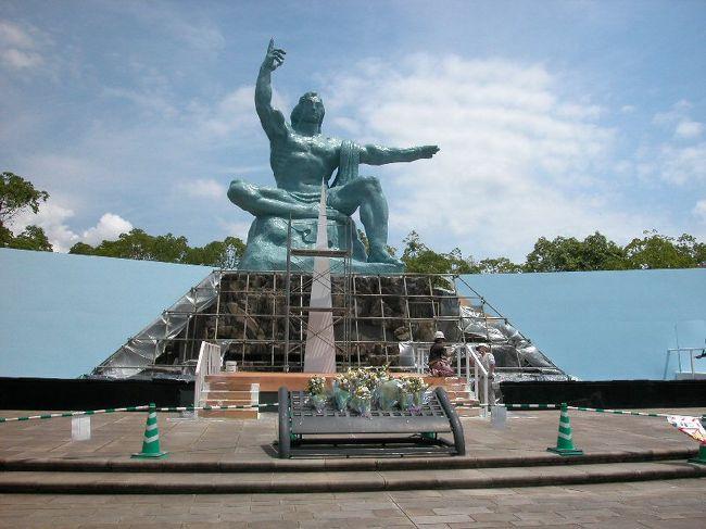 第二次世界大戦中、原爆が投下された長崎。平和公園と原爆資料館周辺をカメラに収めた。