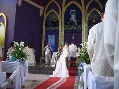 フィリピンで友人の結婚式(2/6教会での結婚式編)