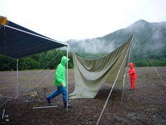雨の乗鞍キャンプ