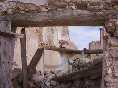 スペイン内戦の時に破壊された村、エブラ川の戦闘、カタルーニャ州