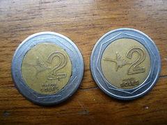 偽コインと本物のお札@リマ