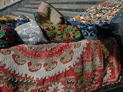 10年ぶりのウズベキスタン、サマルカンドその4、チムール廟の土産物屋