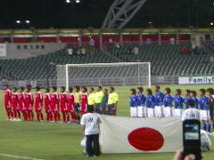 香港スタジムでサッカー観戦