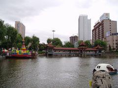 延吉 青年湖とプルハートン川