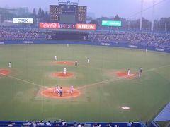 プロ野球観戦 広島−ヤクルト(神宮球場)