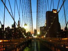 ニューヨーク 2007夏 夕暮れ~夜のブルックリン橋を徒歩で渡る!