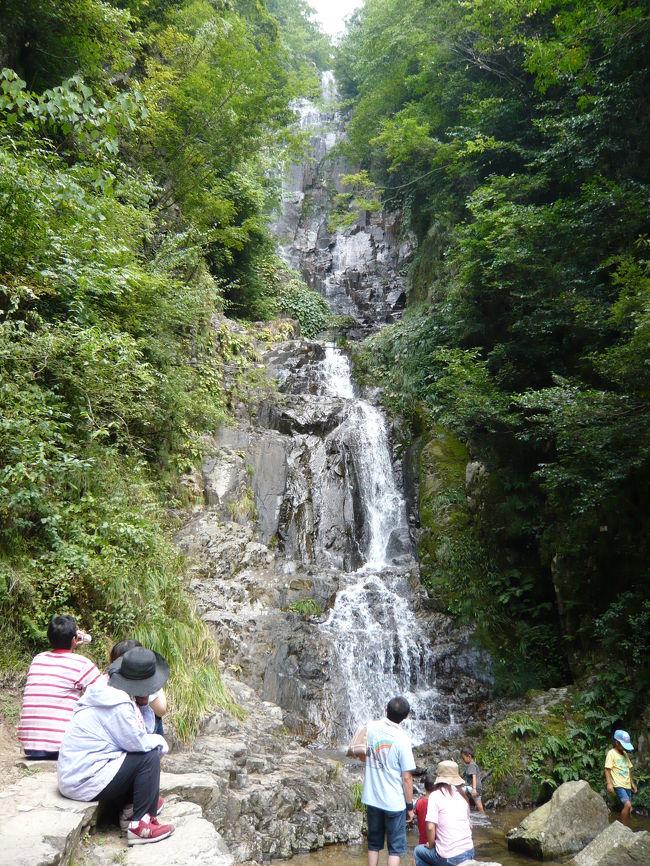 リーガロイヤルホテル広島→岩国・錦帯橋に行った後、&quot;滝好き&quot;の私たちが向かったのは、日本の滝百選にも選ばれている『常清の滝』。<br />その優雅で美しい姿に大感動!駐車場から滝までは約500mで急な登り坂もあり汗だくでしたが、滝の近辺は緑がいっぱいで、しばしの涼をとり、マイナスイオンをいっぱい浴びることができました。これだから&quot;滝見&quot;は止められまへん!!