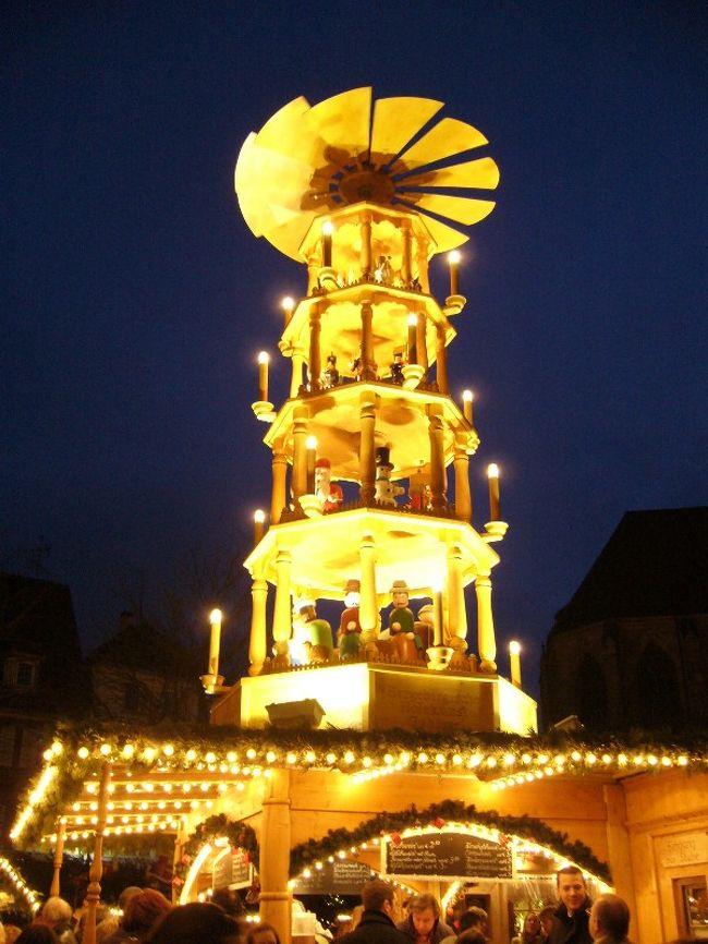 12月1日から1週間ドイツとフランスのアルザス地方を電車で周りました。クリスマスマーケットと木組みの家を見るのが目的です。12月2日(日)ルートヴィヒスブルク城→エスリンゲン(Esslingen)写真は大体どこのクリスマスマーケットにもあるピラミッド。