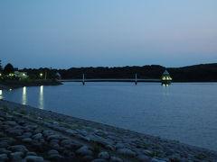 狭山湖の夕日