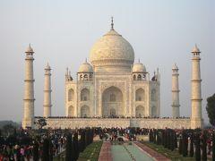 2008冬、インド旅行記(15):1月27日(7)アグラ、タージ・マハル廟、南門